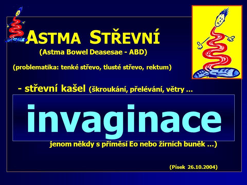 invaginace ASTMA STŘEVNÍ