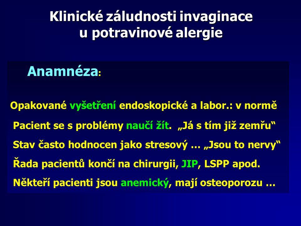 Klinické záludnosti invaginace u potravinové alergie