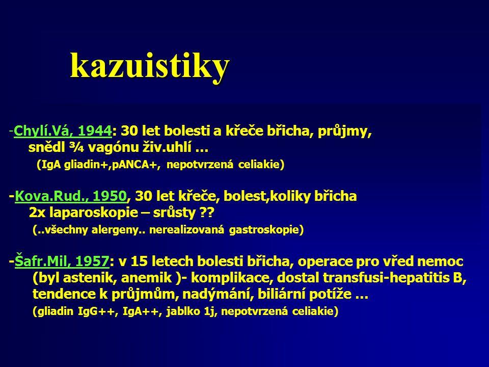 kazuistiky Chylí.Vá, 1944: 30 let bolesti a křeče břicha, průjmy,