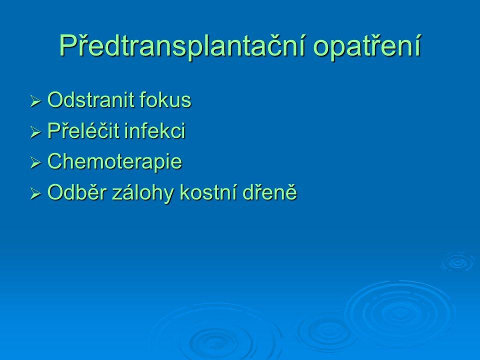 Předtransplantační opatření