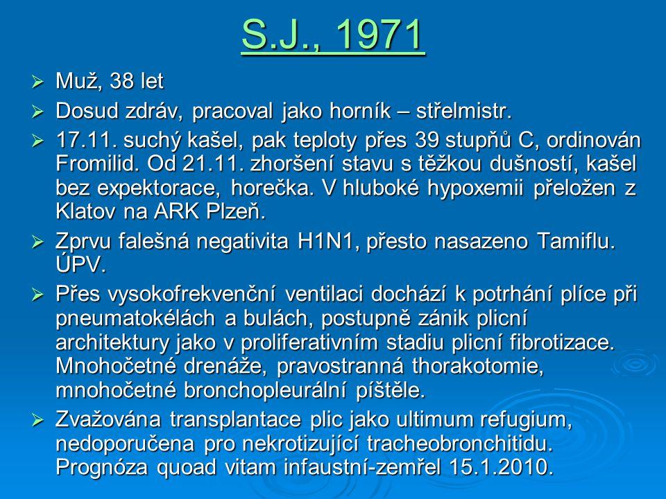 S.J., 1971 Muž, 38 let Dosud zdráv, pracoval jako horník – střelmistr.