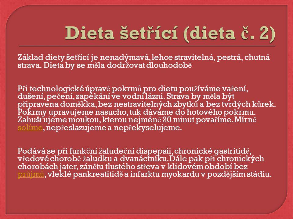 Dieta šetřící (dieta č. 2)