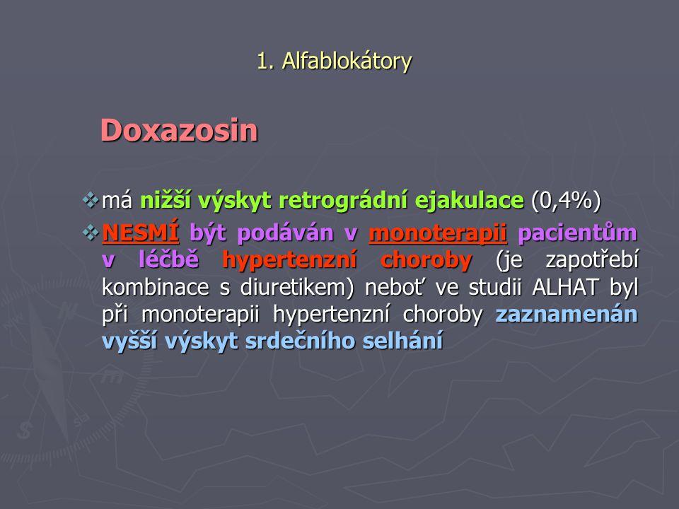 Doxazosin 1. Alfablokátory