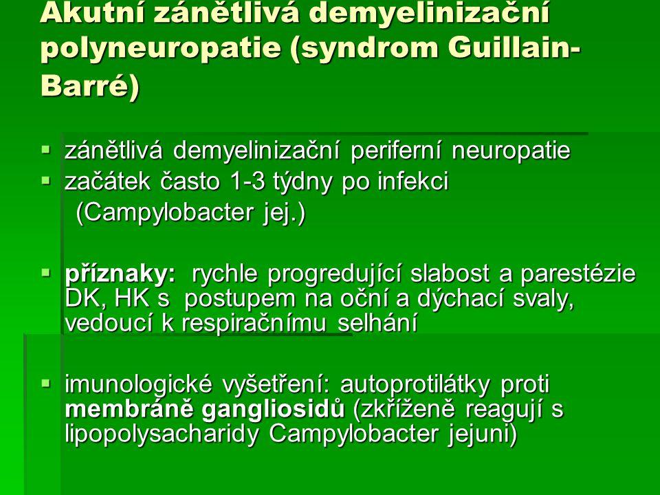 Akutní zánětlivá demyelinizační polyneuropatie (syndrom Guillain-Barré)