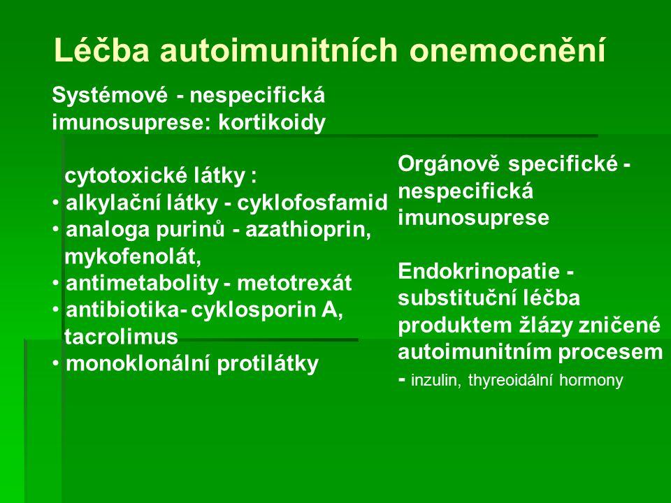 Léčba autoimunitních onemocnění