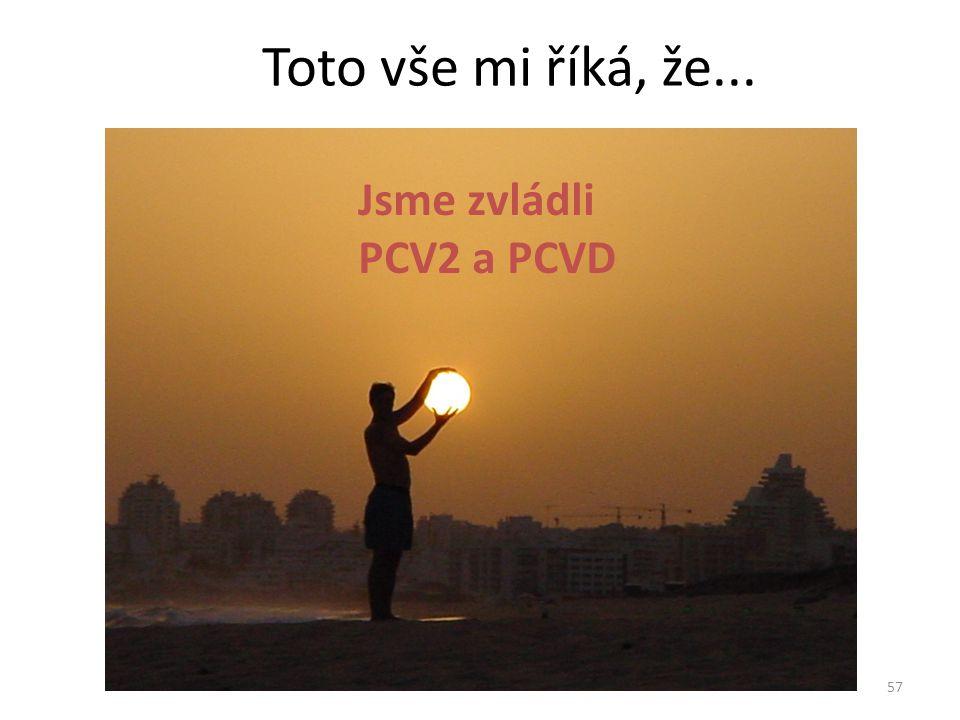 Toto vše mi říká, že... Jsme zvládli PCV2 a PCVD