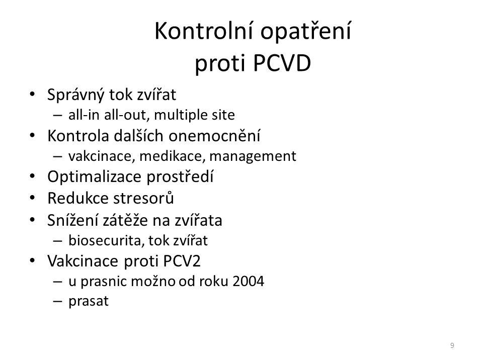Kontrolní opatření proti PCVD