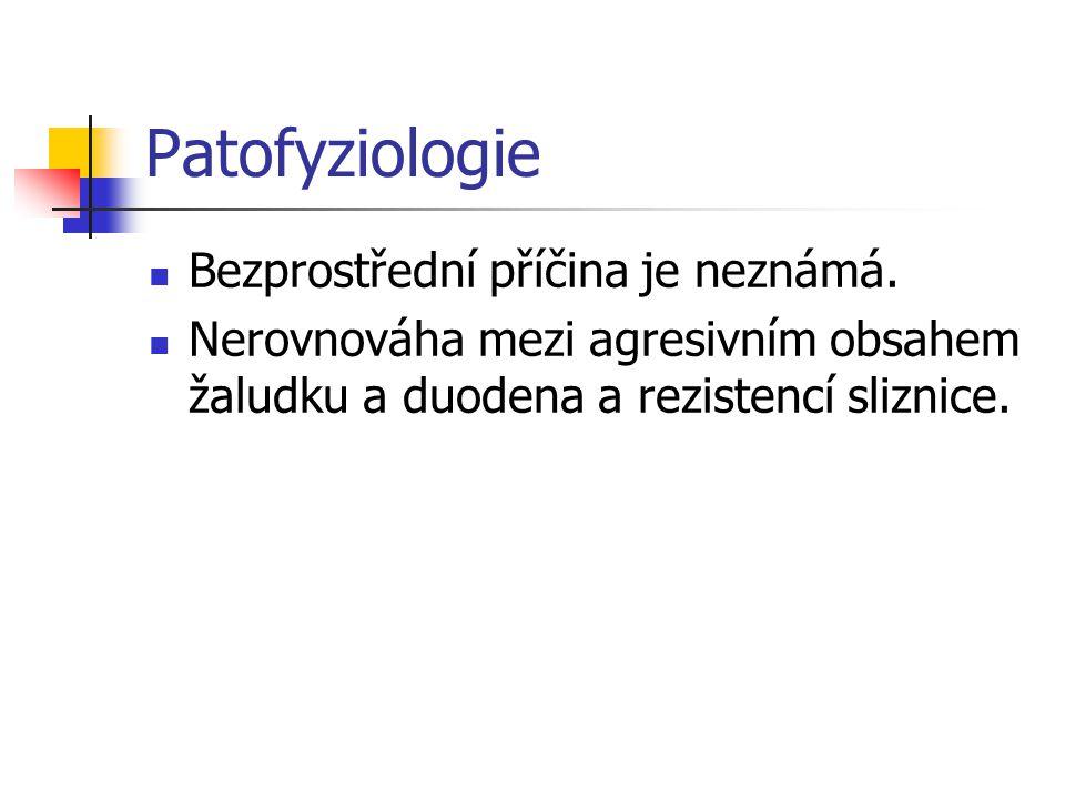 Patofyziologie Bezprostřední příčina je neznámá.