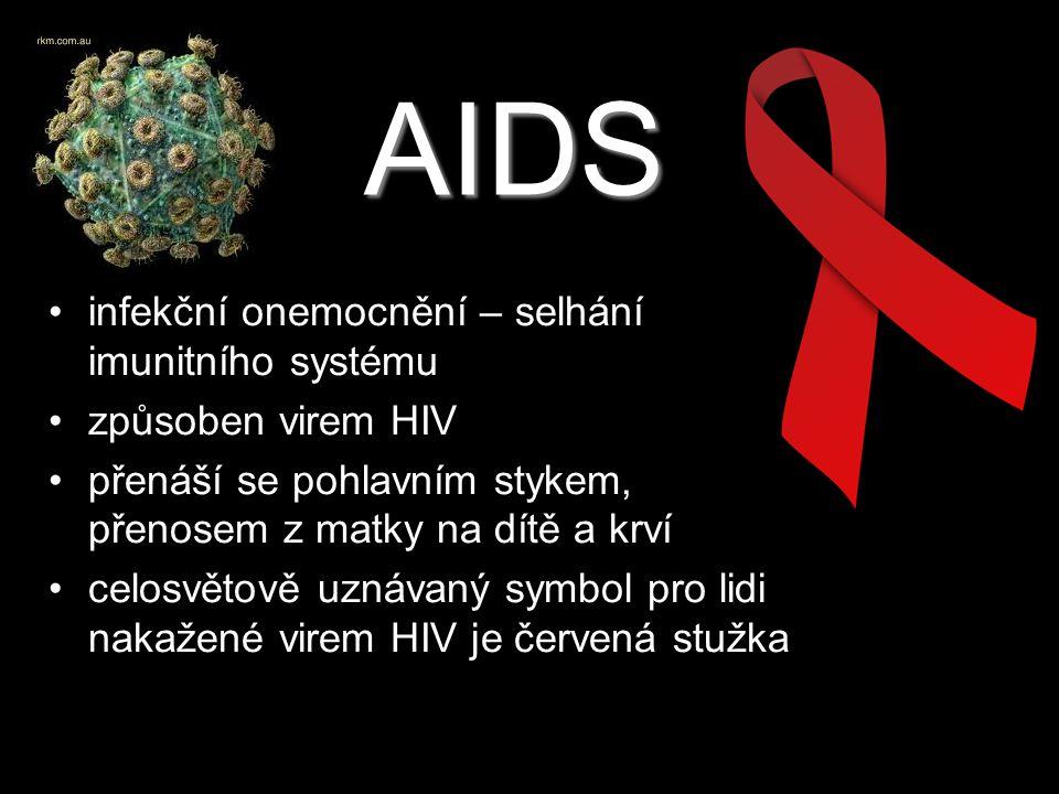 AIDS infekční onemocnění – selhání imunitního systému