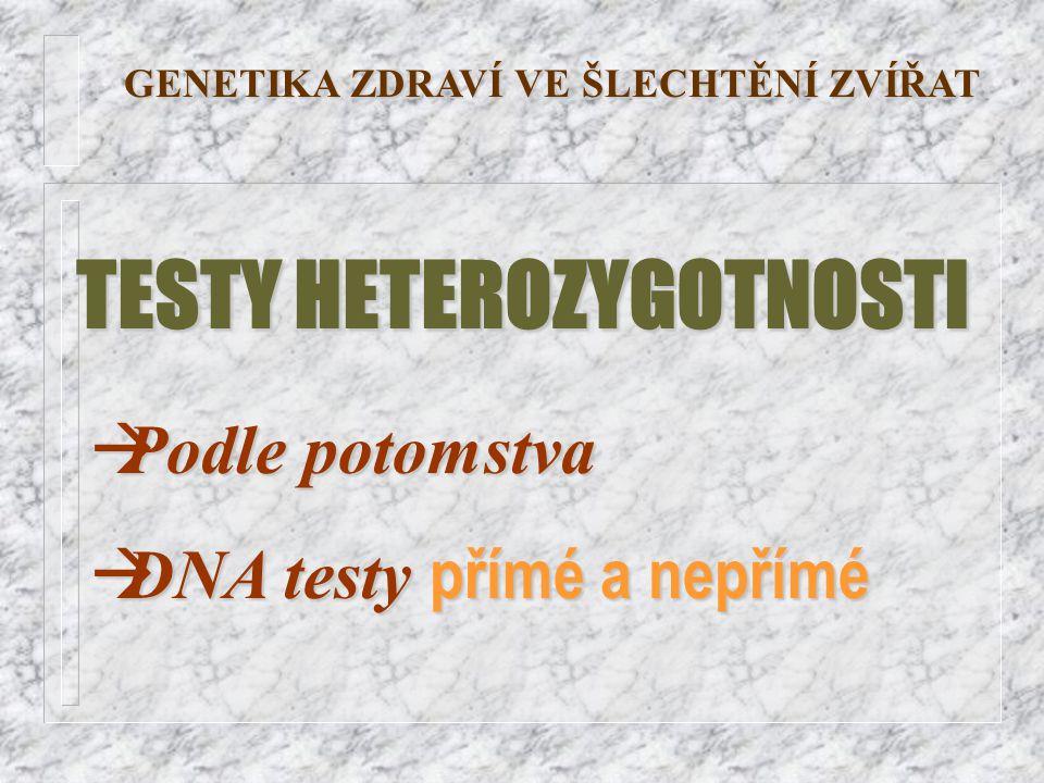 TESTY HETEROZYGOTNOSTI