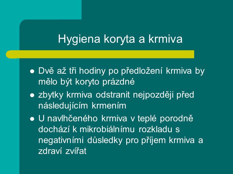 Hygiena koryta a krmiva