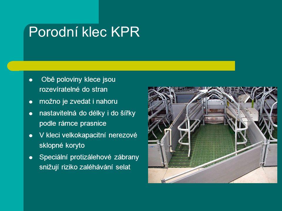 Porodní klec KPR Obě poloviny klece jsou rozevíratelné do stran