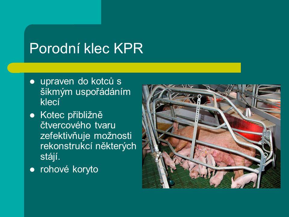 Porodní klec KPR upraven do kotců s šikmým uspořádáním klecí