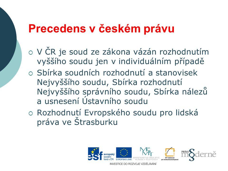 Precedens v českém právu