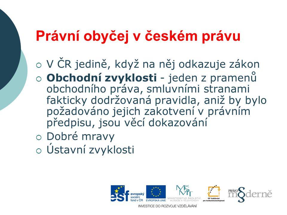 Právní obyčej v českém právu