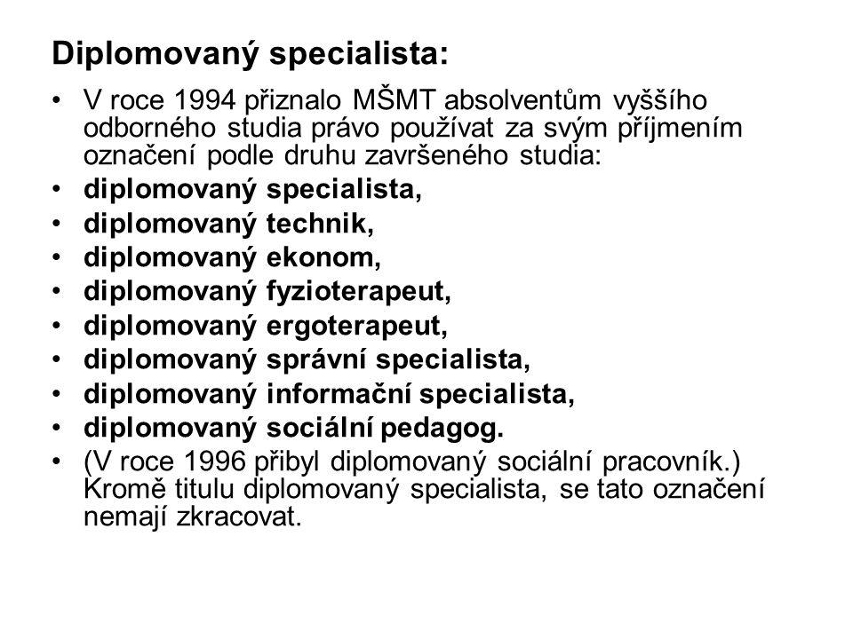 Diplomovaný specialista: