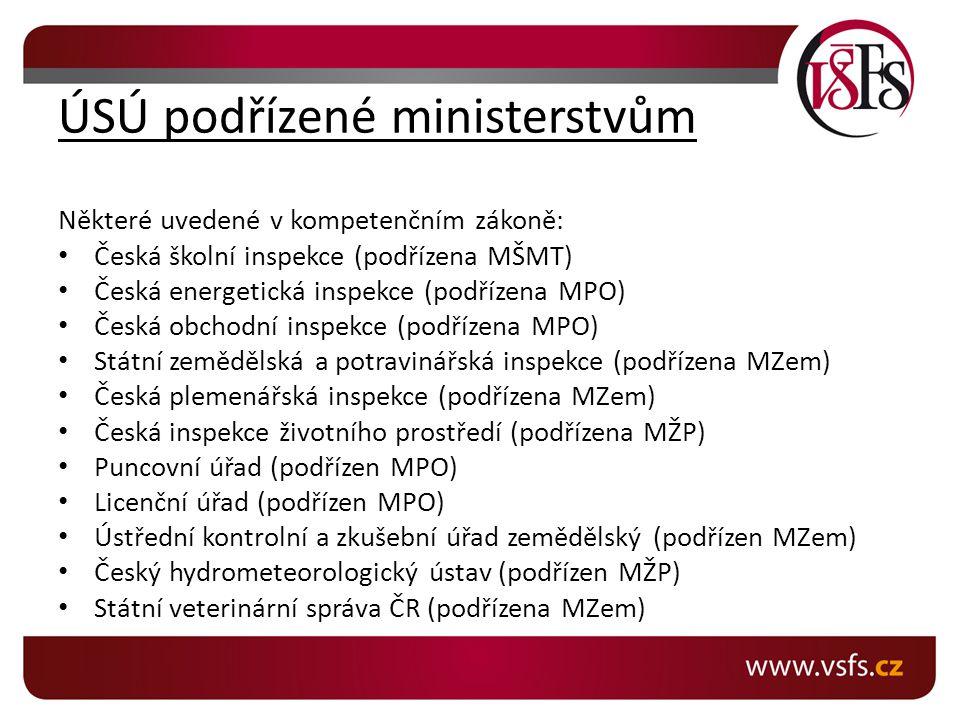 ÚSÚ podřízené ministerstvům