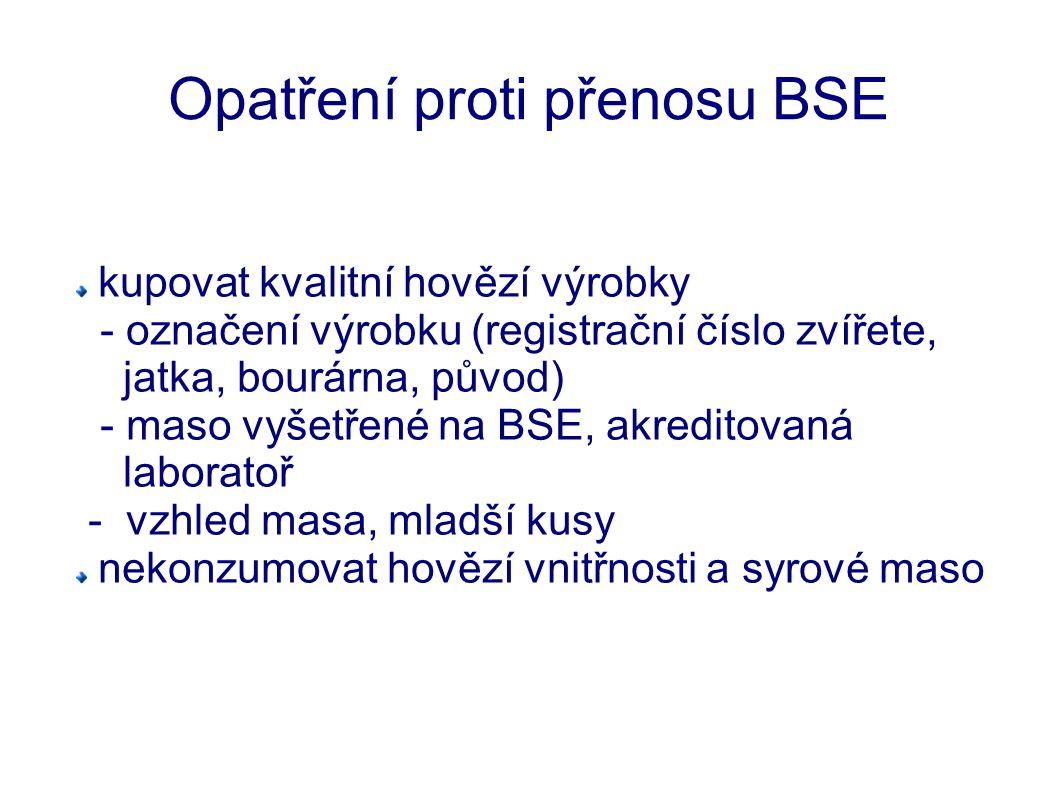 Opatření proti přenosu BSE