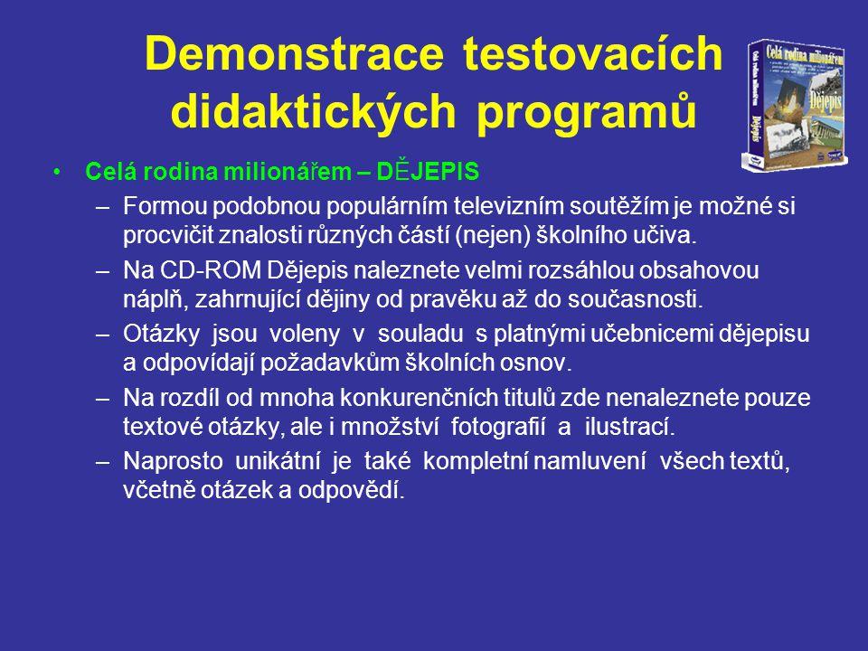 Demonstrace testovacích didaktických programů