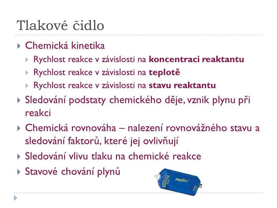Tlakové čidlo Chemická kinetika