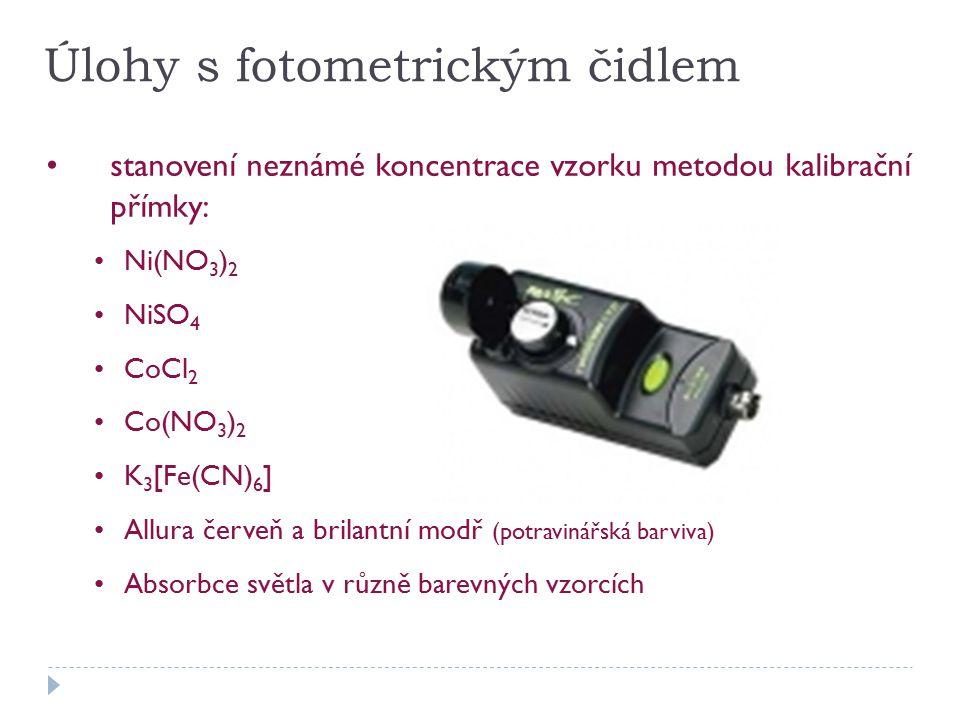 Úlohy s fotometrickým čidlem