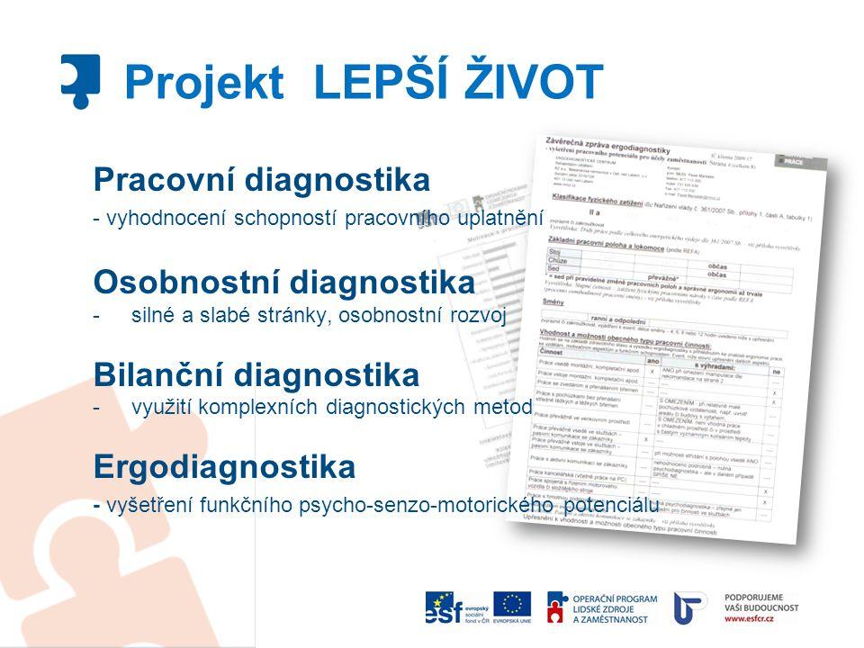 Projekt LEPŠÍ ŽIVOT Pracovní diagnostika Osobnostní diagnostika