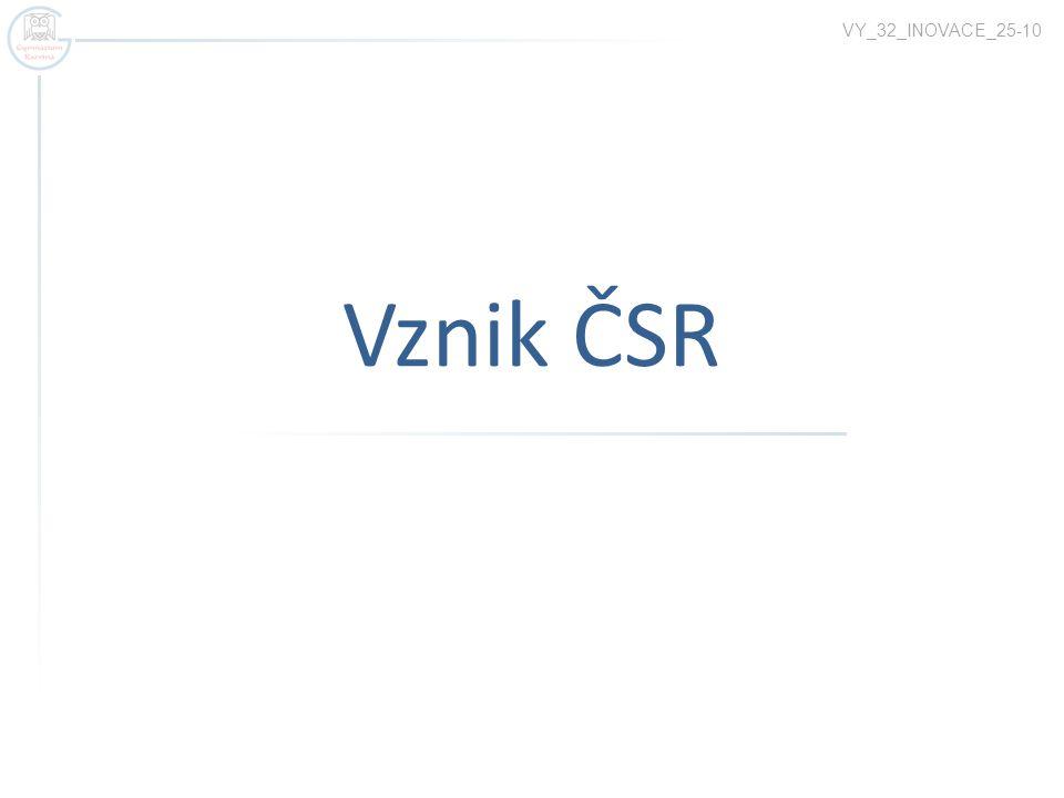 VY_32_INOVACE_25-10 Vznik ČSR