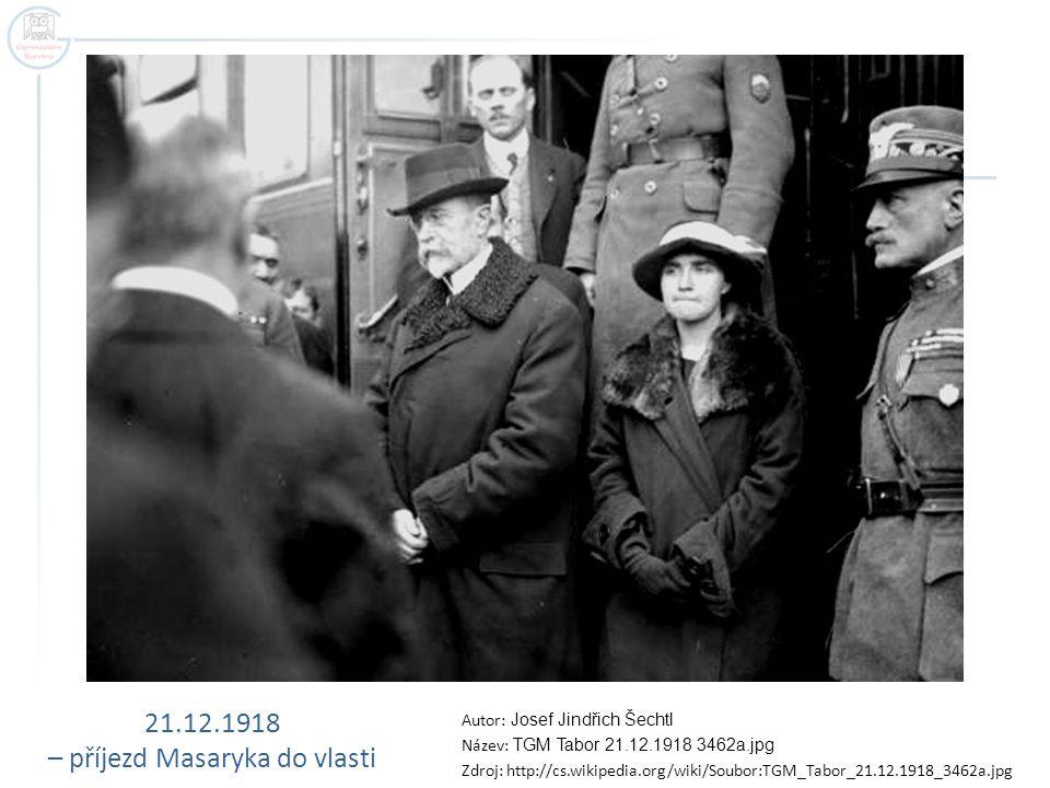 – příjezd Masaryka do vlasti