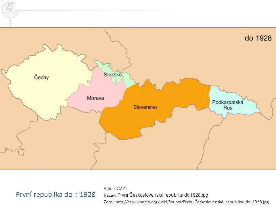 První republika do r. 1928 Autor: Cani
