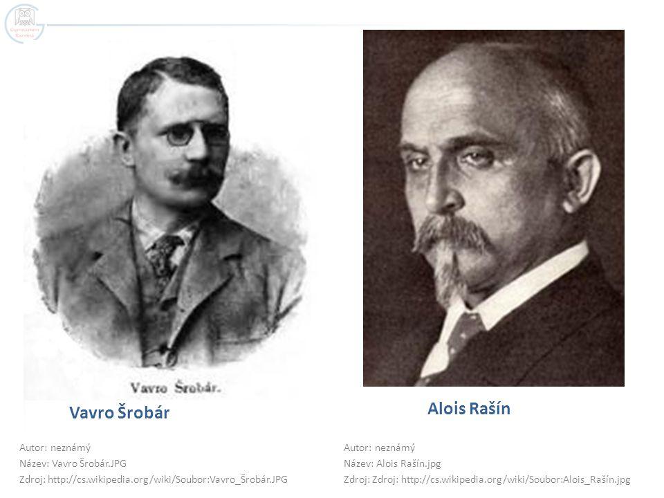 Alois Rašín Vavro Šrobár