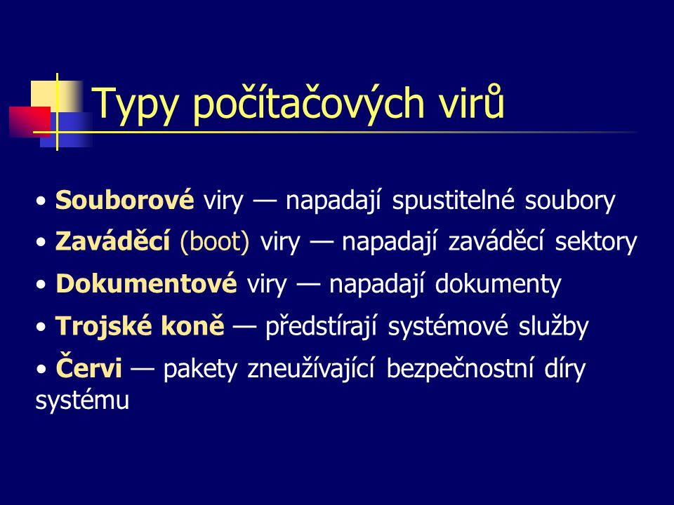 Typy počítačových virů