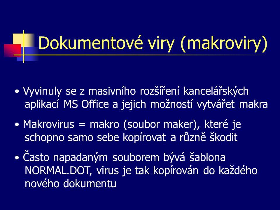 Dokumentové viry (makroviry)