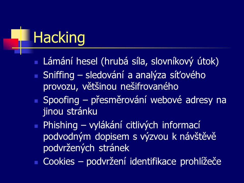 Hacking Lámání hesel (hrubá síla, slovníkový útok)