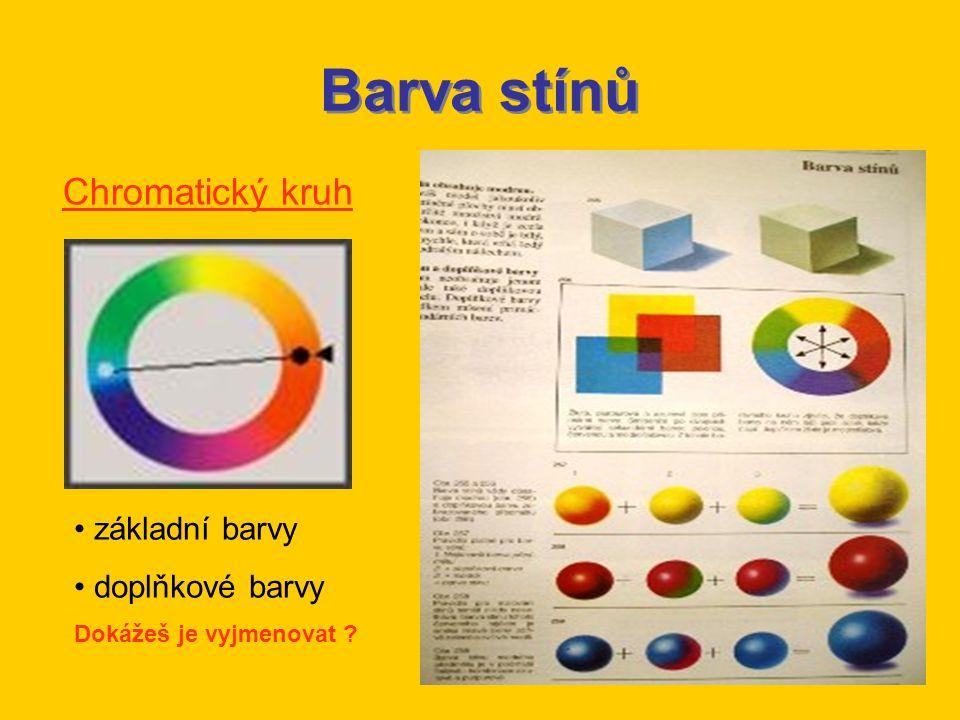 Barva stínů Chromatický kruh základní barvy doplňkové barvy