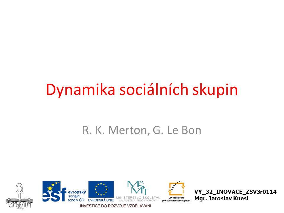 Dynamika sociálních skupin