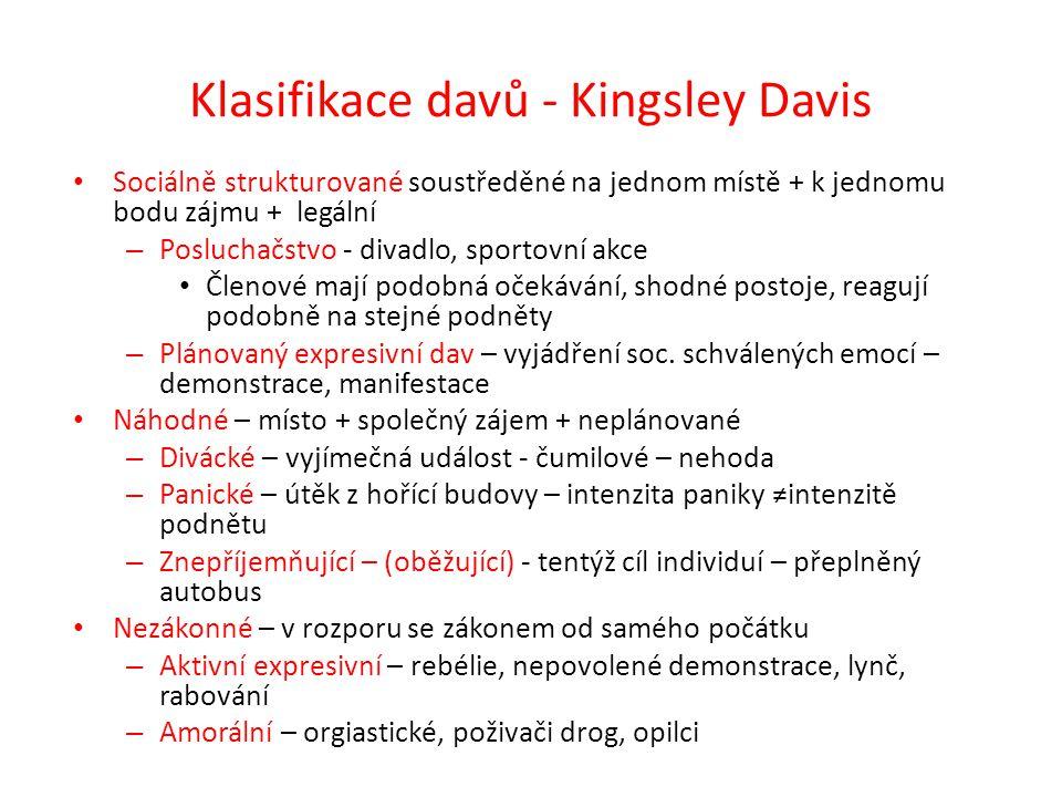 Klasifikace davů - Kingsley Davis