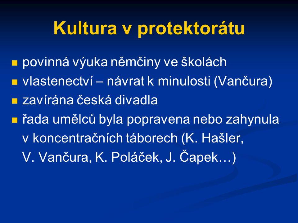 Kultura v protektorátu