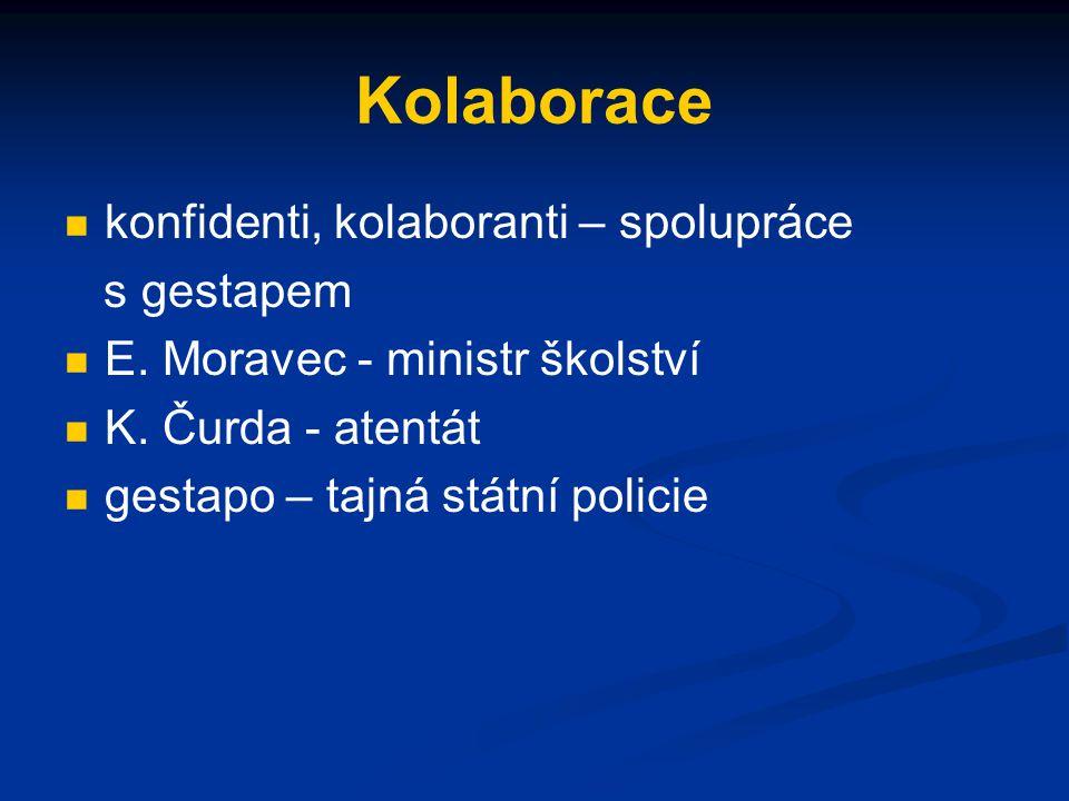 Kolaborace konfidenti, kolaboranti – spolupráce s gestapem