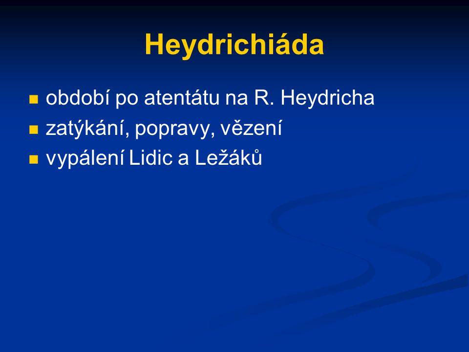 Heydrichiáda období po atentátu na R. Heydricha