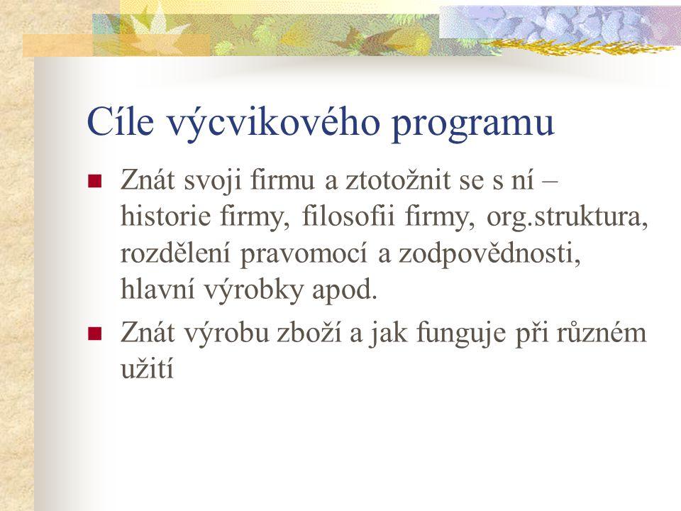 Cíle výcvikového programu