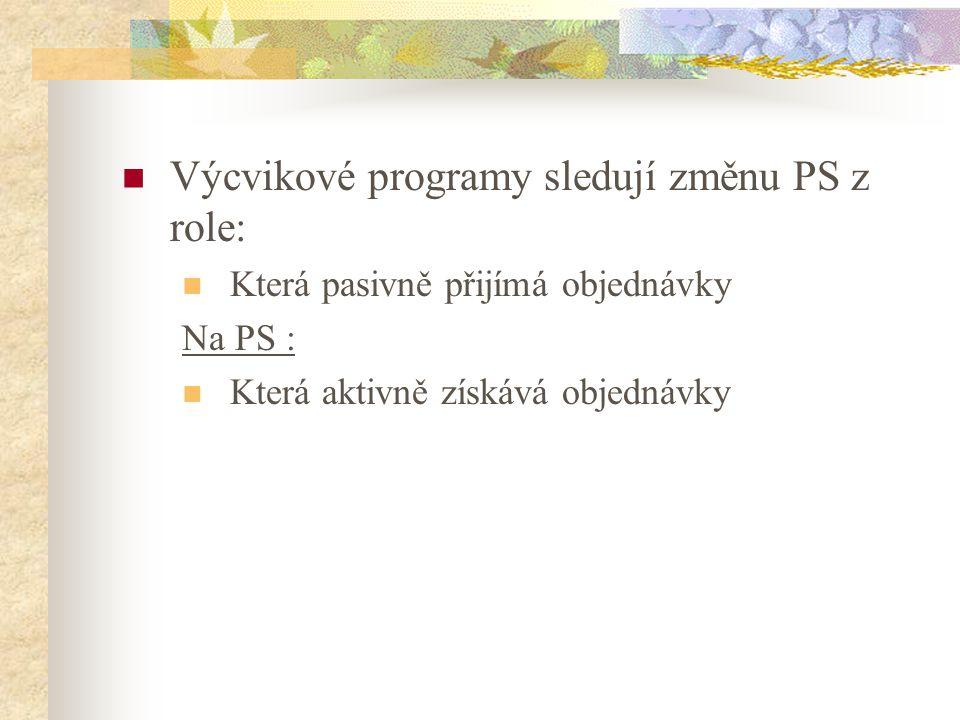 Výcvikové programy sledují změnu PS z role: