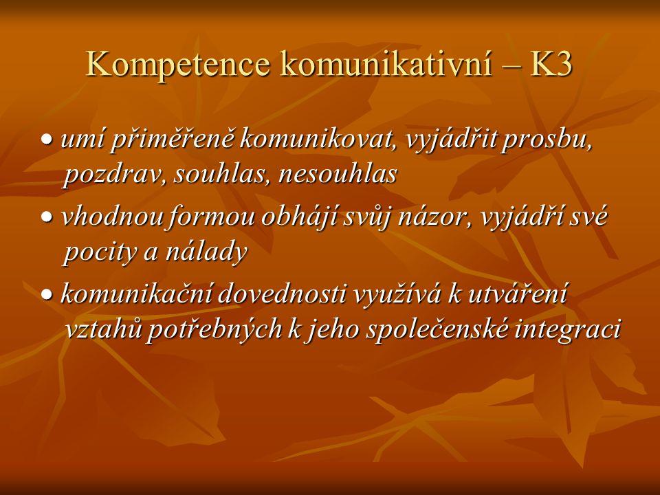Kompetence komunikativní – K3