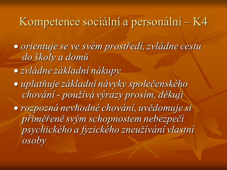 Kompetence sociální a personální – K4