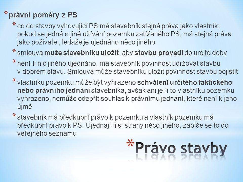 právní poměry z PS