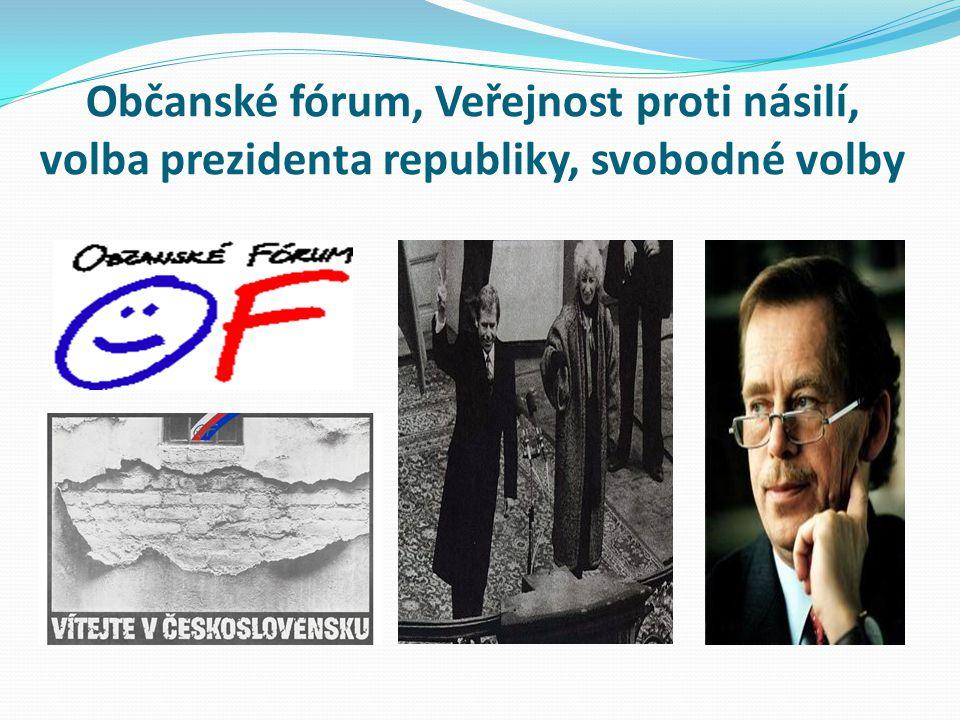 Občanské fórum, Veřejnost proti násilí, volba prezidenta republiky, svobodné volby