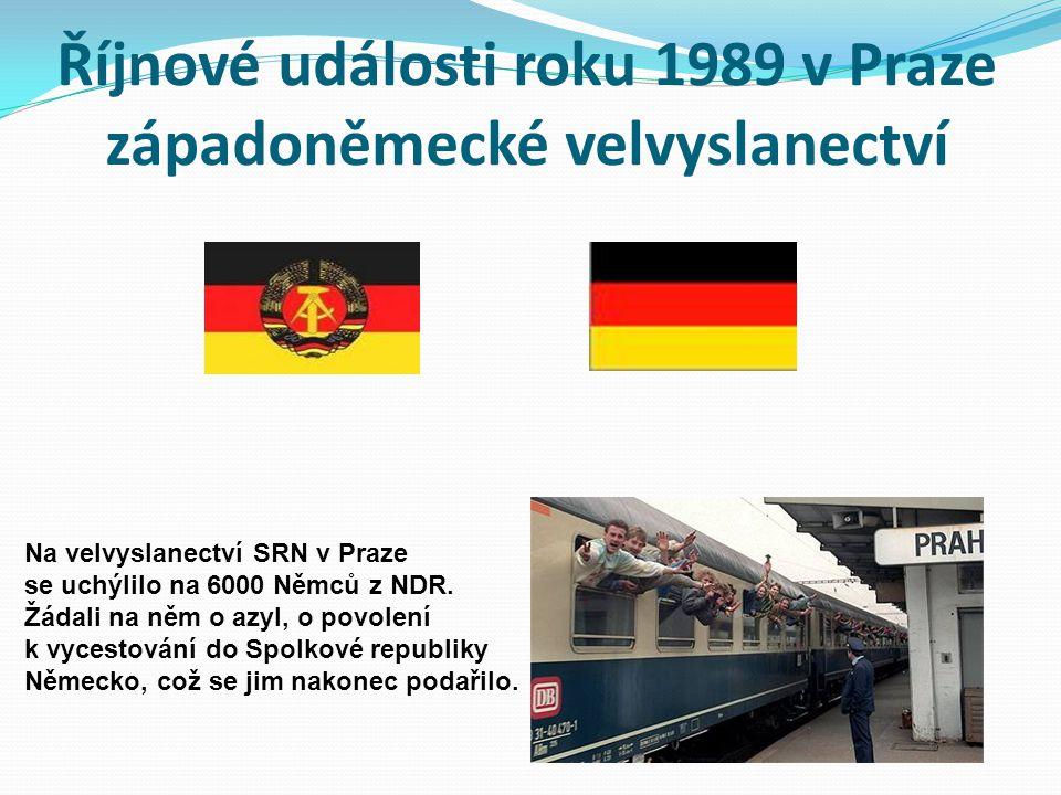 Říjnové události roku 1989 v Praze západoněmecké velvyslanectví
