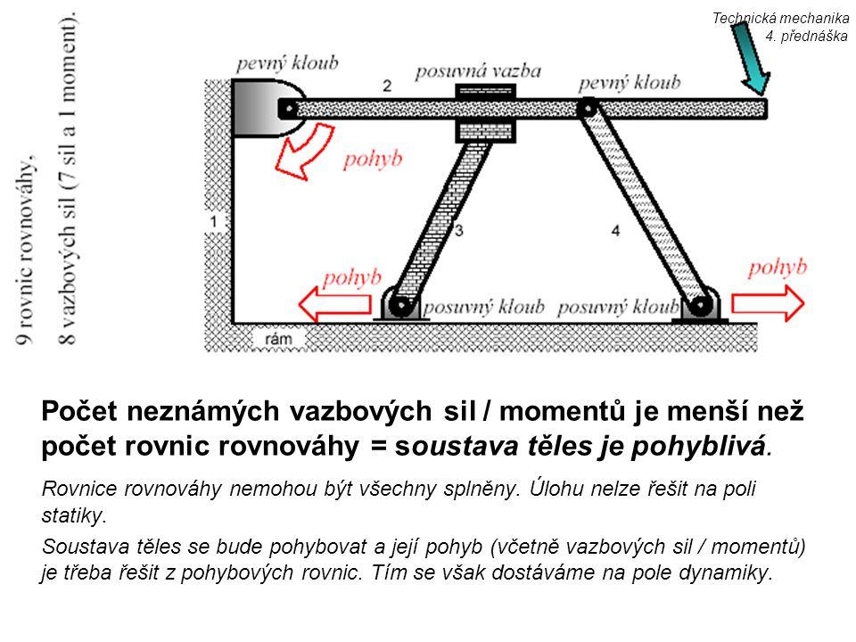 Technická mechanika 4. přednáška