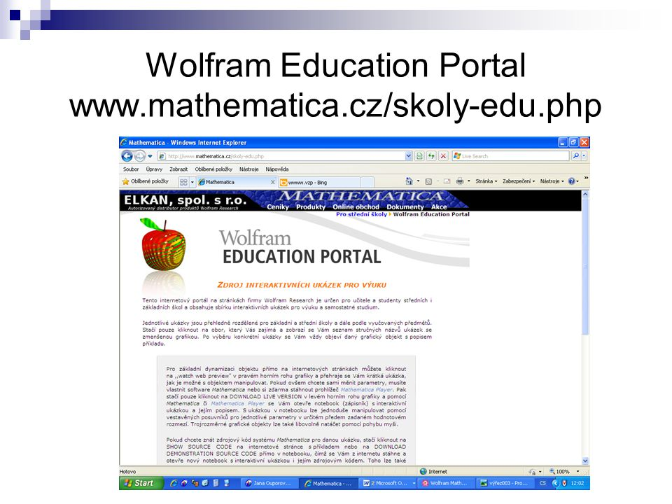 Wolfram Education Portal