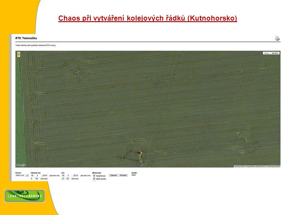 Chaos při vytváření kolejových řádků (Kutnohorsko)