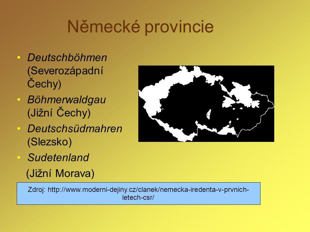 Německé provincie Deutschböhmen (Severozápadní Čechy)